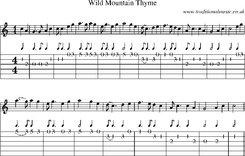 Wild Mountain Thyme Will Ye Go Lassie Go Lyrics